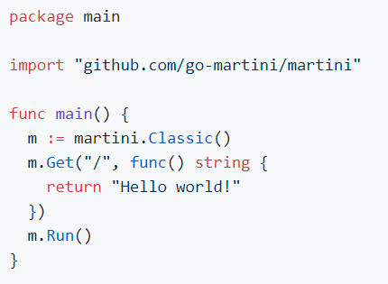 Golang Framework Martini 2