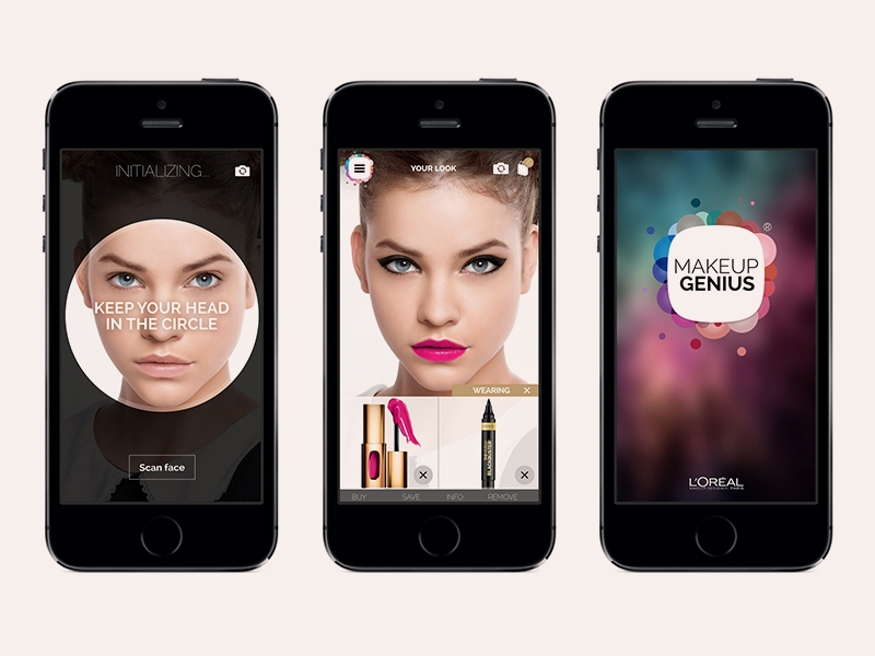 L'Oreal Makeup Genius Mobile App