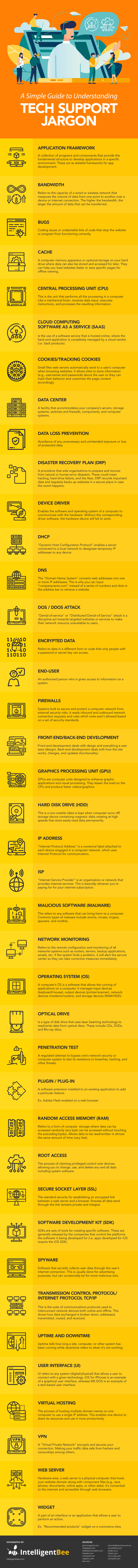 Simple Guide to Understanding Tech Support Jargon-Infographic